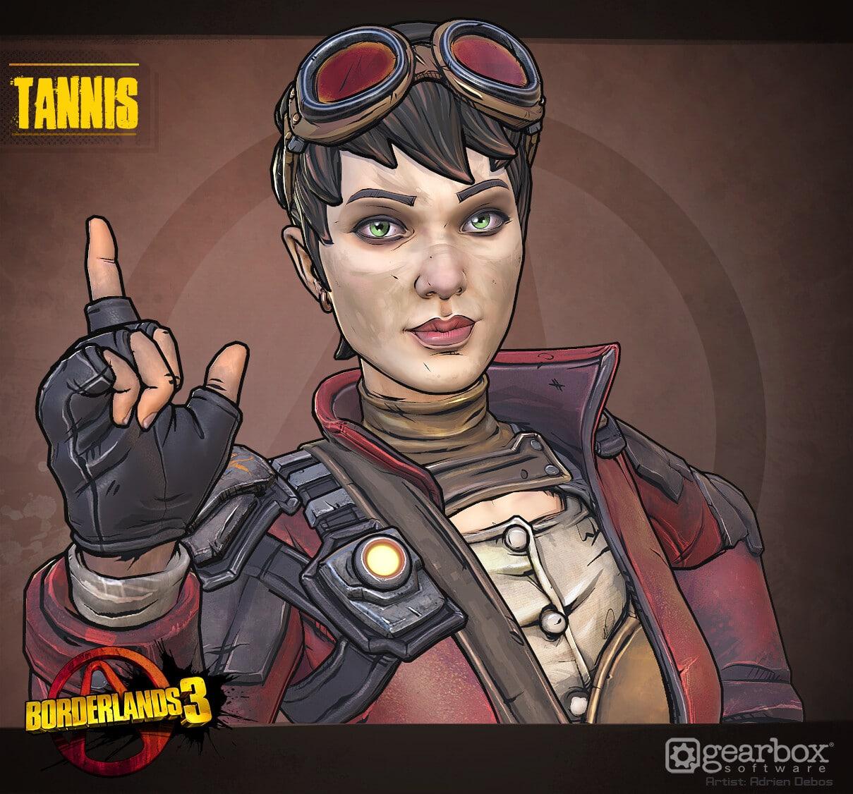 Tannis dans les jeux vidéo Borderland