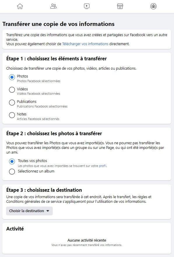 Facebook Transférez de messages et notes grâce à la portabilité des données LCDG