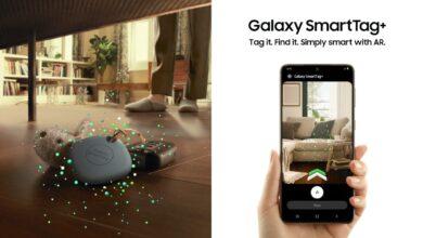 Les nouveaux trackers Galaxy SmartTag+ de Samsung application LCDG prix