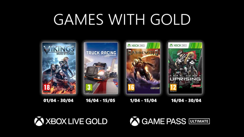 Games with Gold : les jeux gratuits sur Xbox en avril 2021