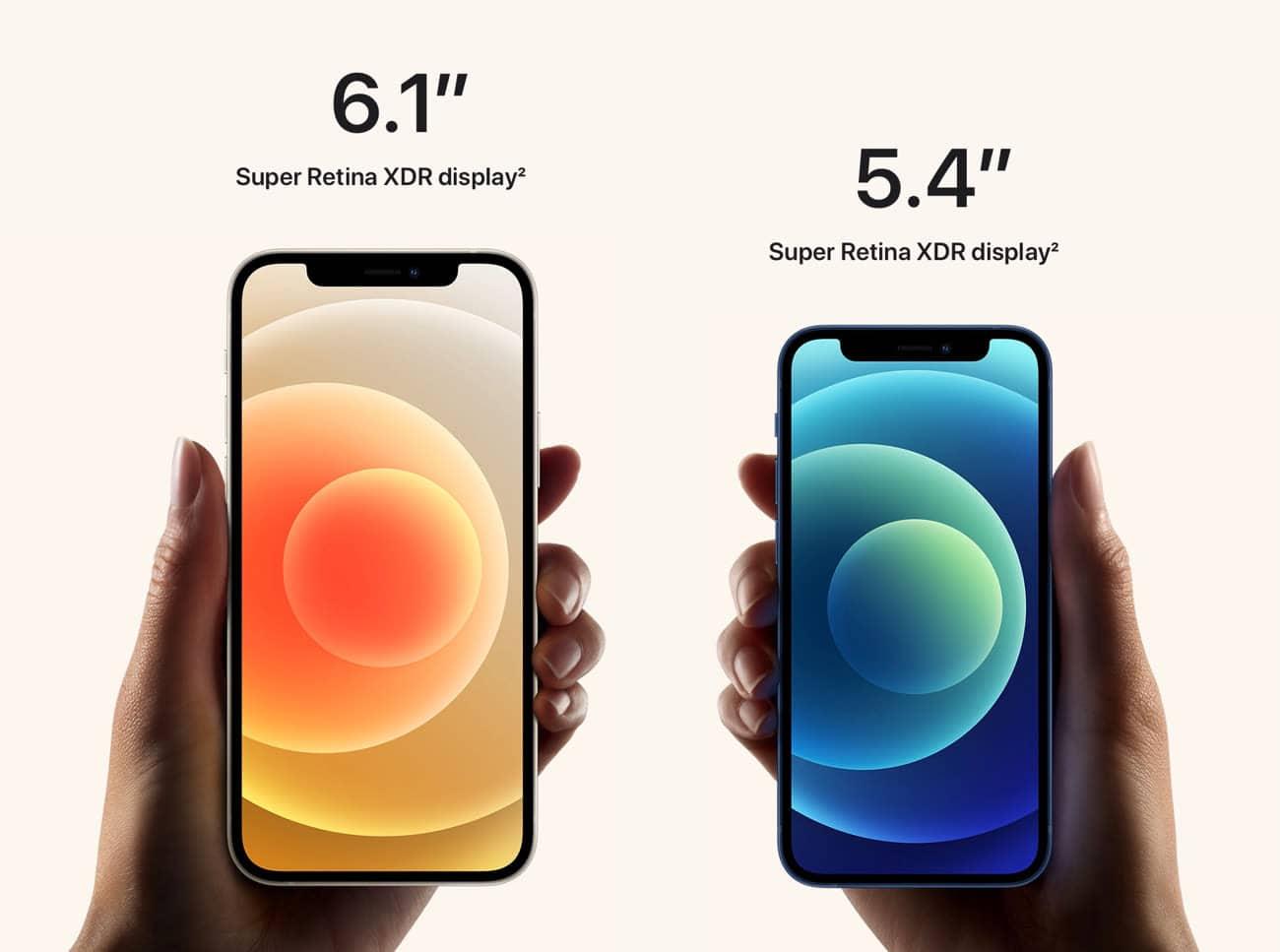 tailles d'écran iPhone 12