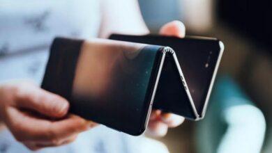 tcl-protoype-pliable concept phone Samsung tablette pliable en 3 parties