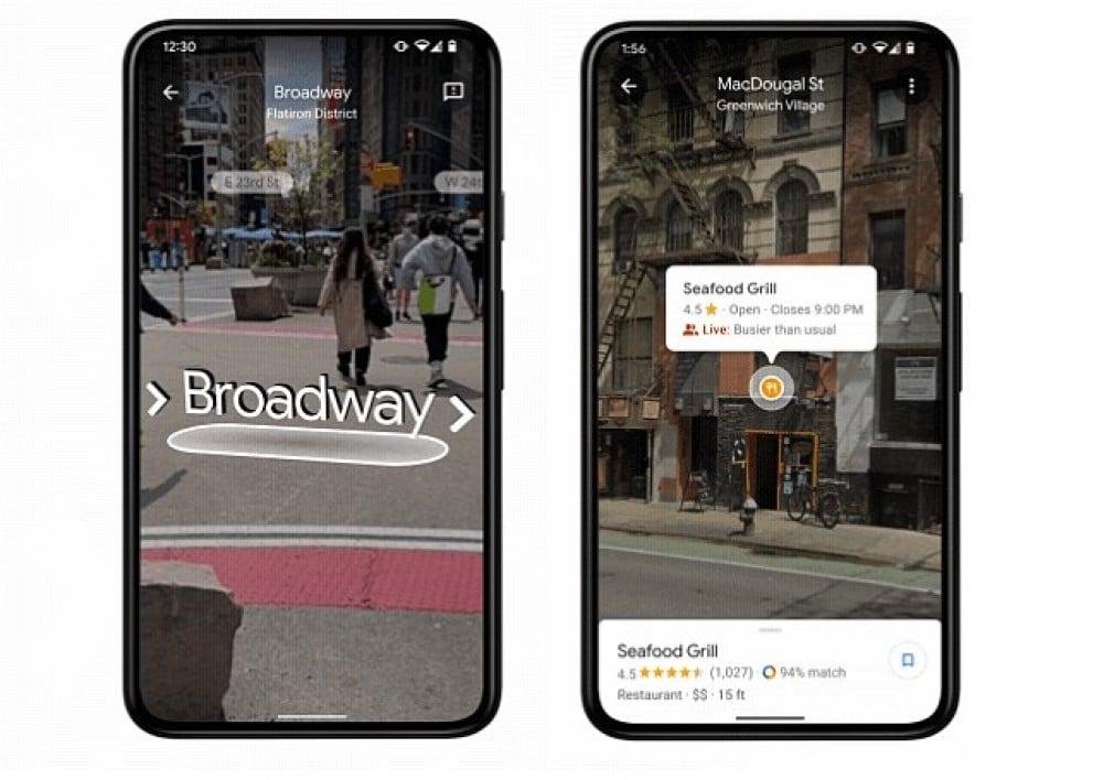 google maps live view nouveautes