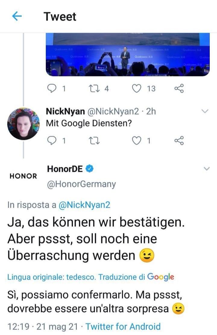 Tweet HONOR Allemagne GMS