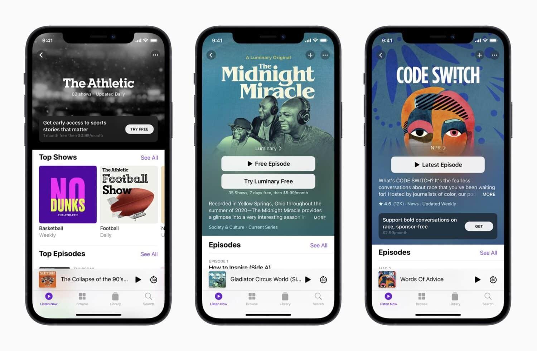Apple Podcasts : les abonnements payants sont repoussés