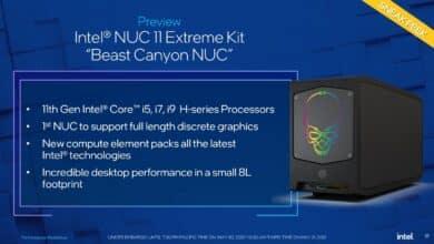 Computex 2021 : Intel les NUC Beast Canyon, pouvant accueillir une imposante carte graphique