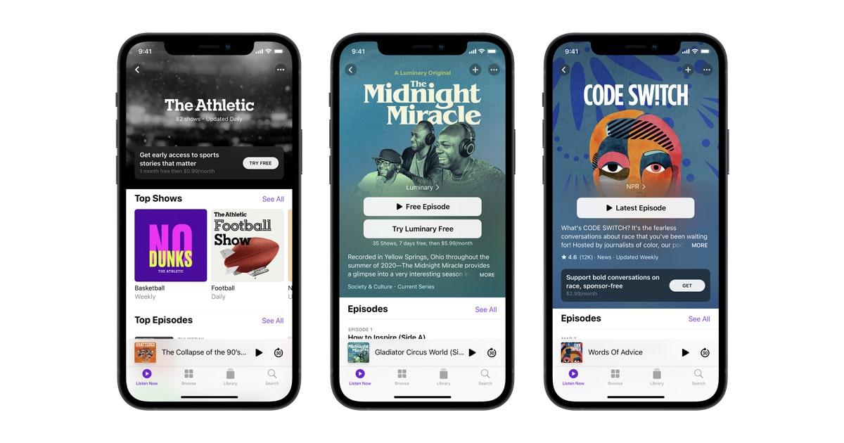Apple Podcasts : les abonnements payants sont désormais disponibles