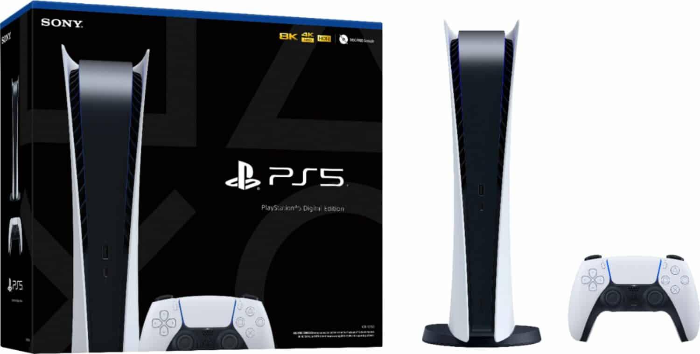 ps5 digital edition plus legere console