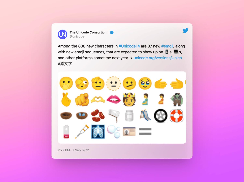 Tweet by The Unicode Consortium