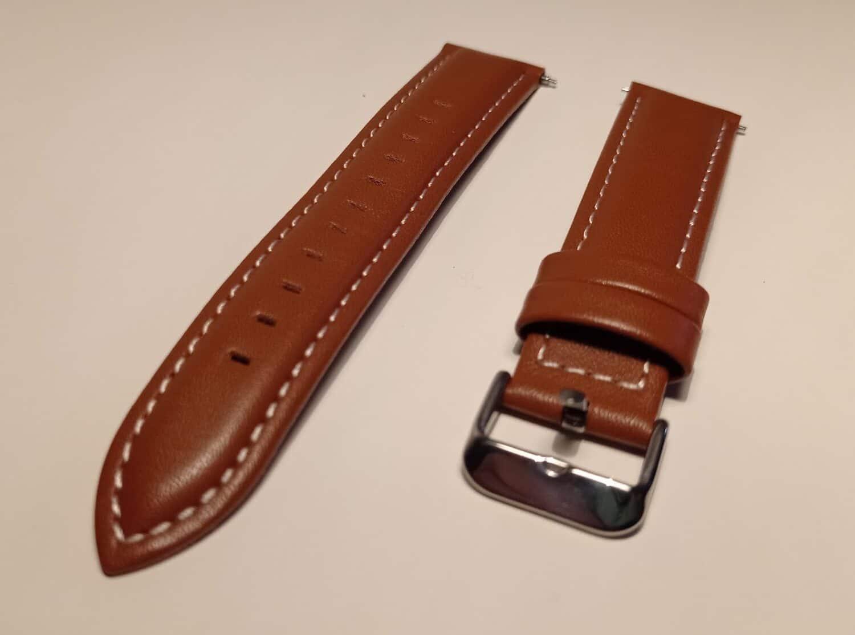 bracelet cuir 20 mm montre connectee