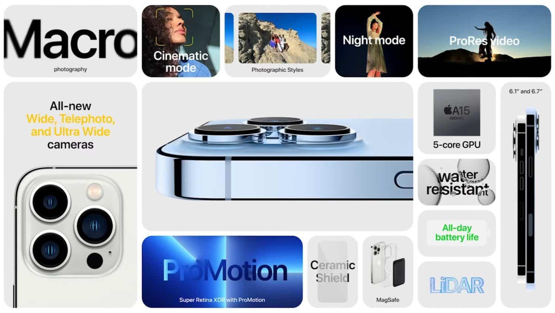 iphone 13 pro nouveautes
