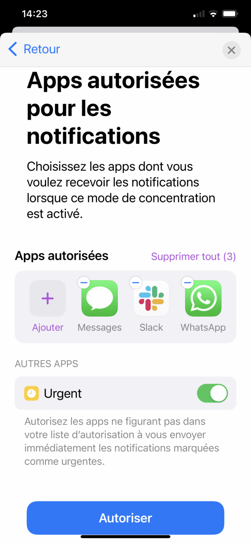 mode-focus-applications-autorisees