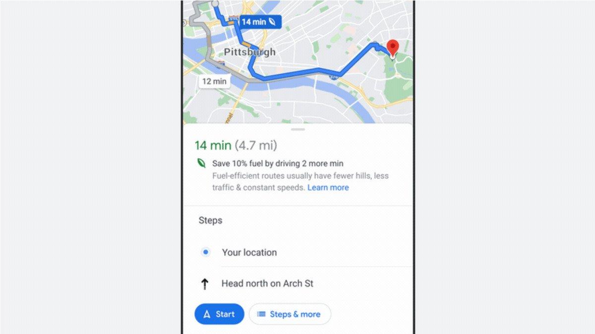 google-maps-trajet-econome-carburant